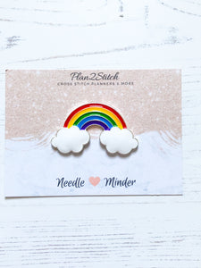 Rainbow Cloud Alloy Enamel Needle Minder