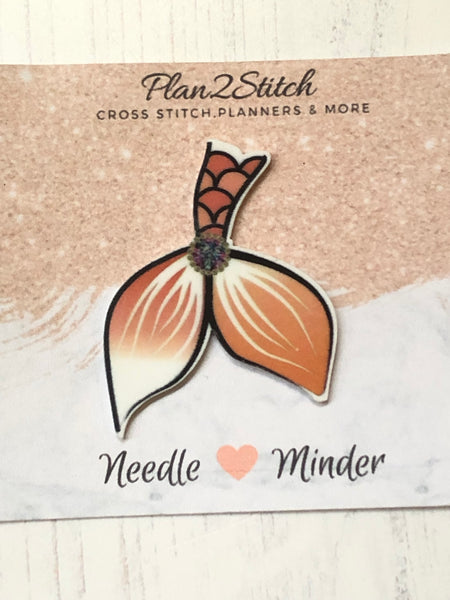 Amber Mermaid Tail Needle Minder