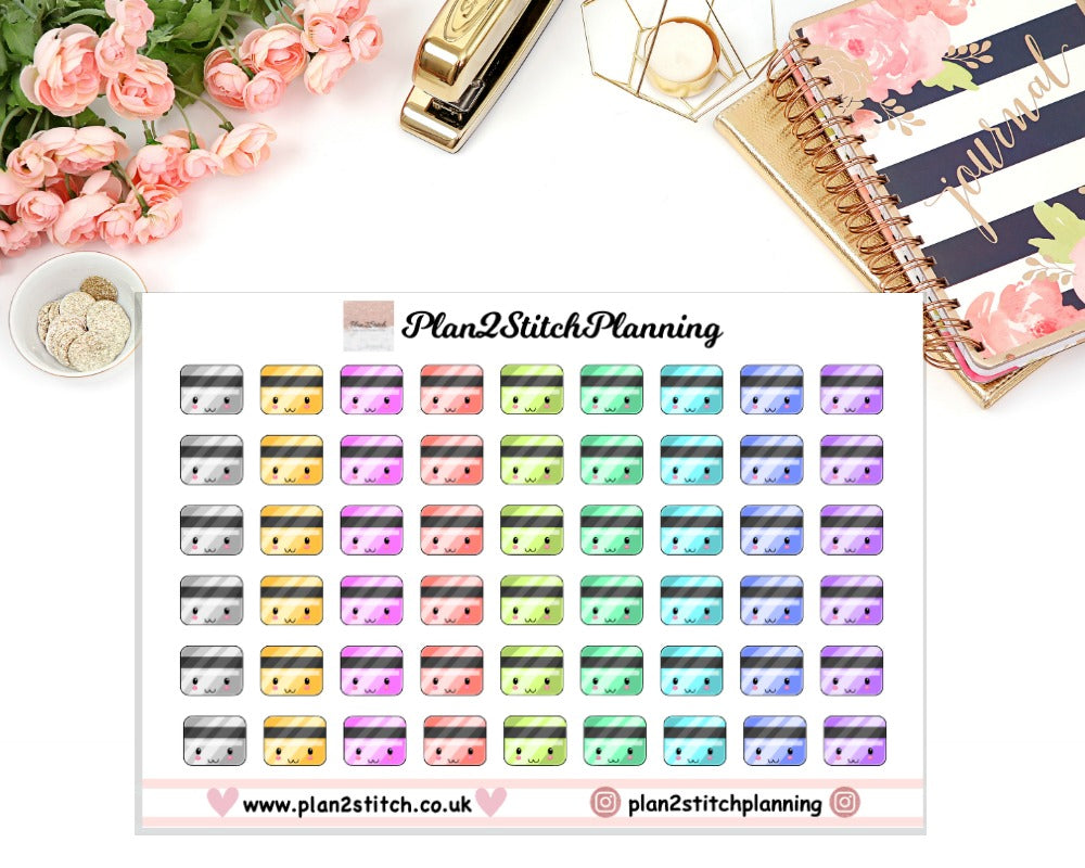 Bank Card Planner Stickers