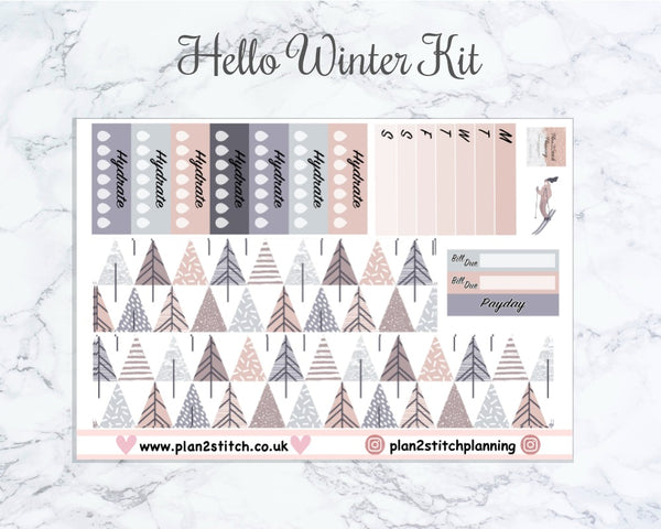 Hello Winter Weekly Sticker Kit