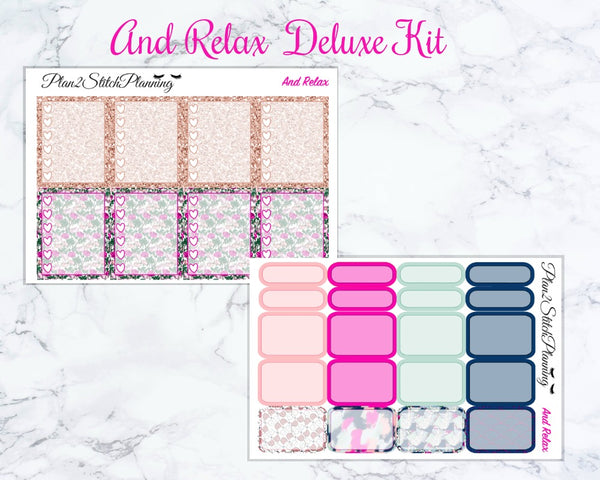 And Relax Deluxe Weekly Sticker Kit