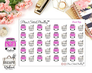 Road Trip/Weekend Getaway Planner Stickers