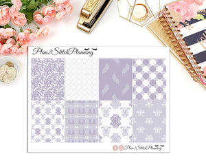 Lilac Blossom Full Box Erin Condren Planner Stickers