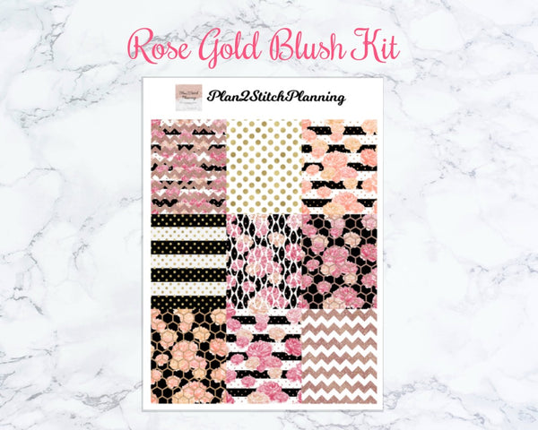 Rose Gold Blush Weekly Sticker Kit
