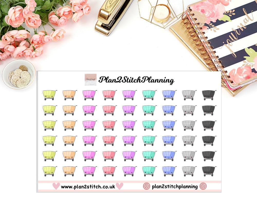 Shopping Cart Planner Stickers