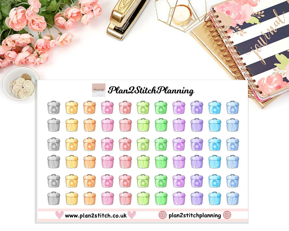 Trash/Recycle Planner Stickers