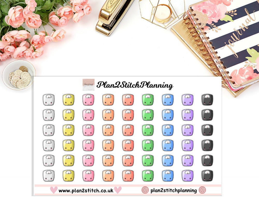 Scales Planner Stickers