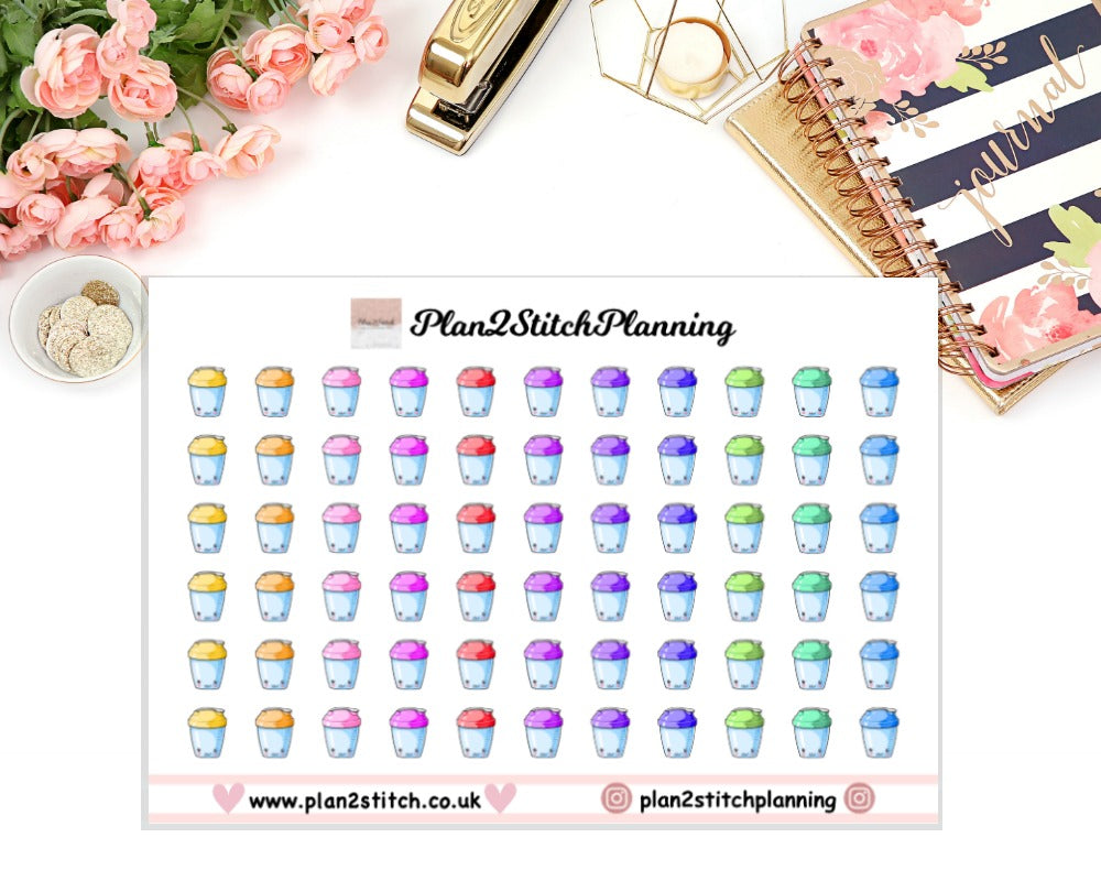 Water Bottles Planner Stickers