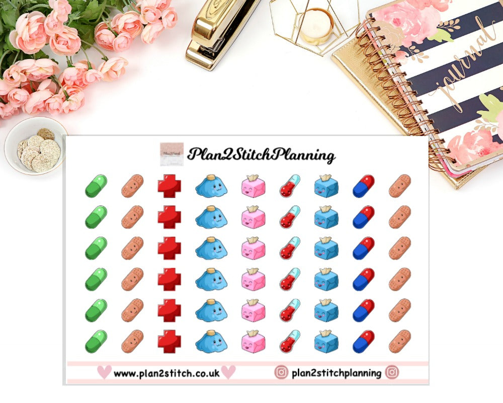 Poorly Planner Stickers