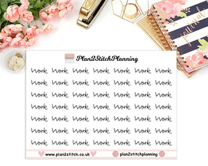 Work Planner Stickers