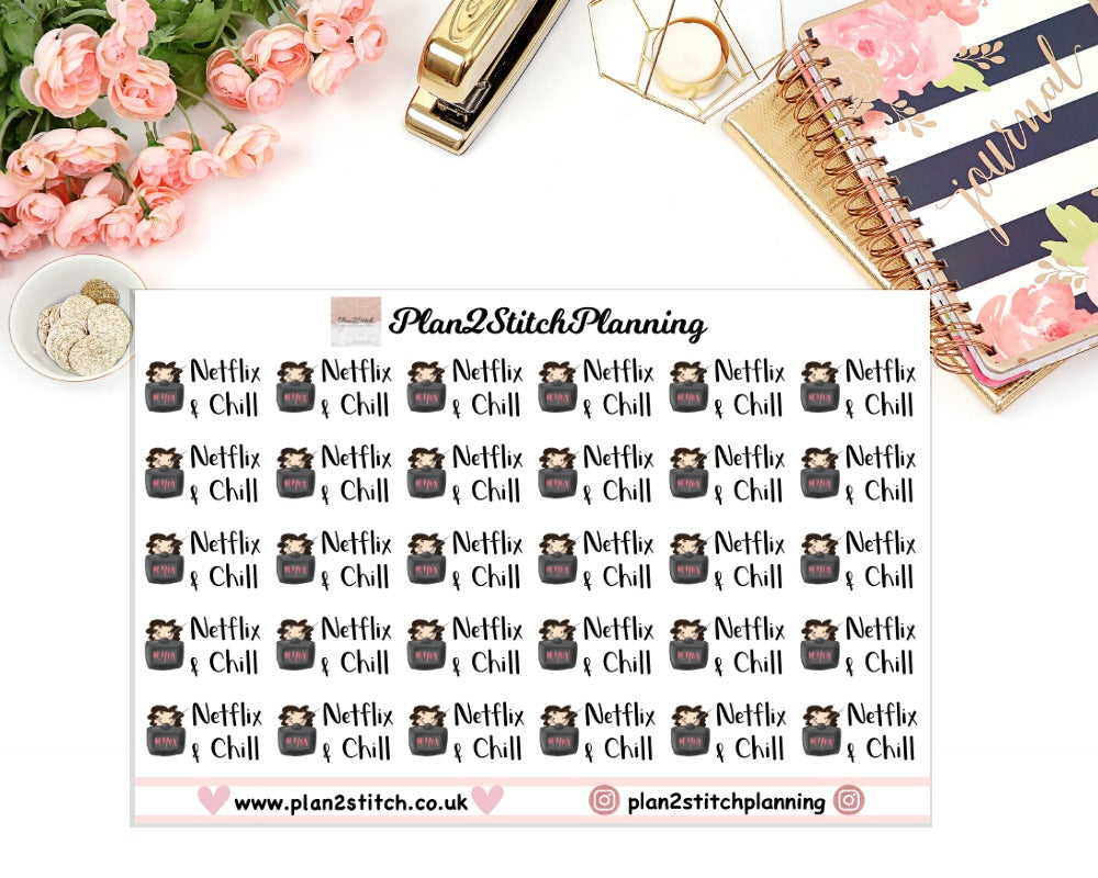 Netflix & Chill Planner Stickers