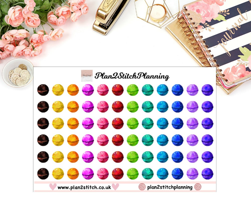 Luscious Bath Bombs Planner Stickers