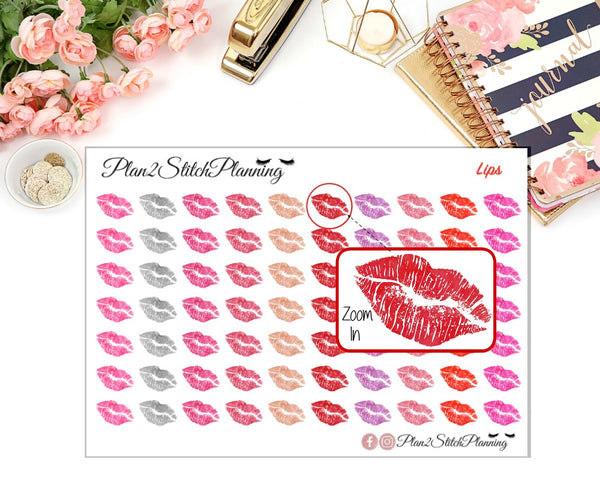 Lips Planner Stickers