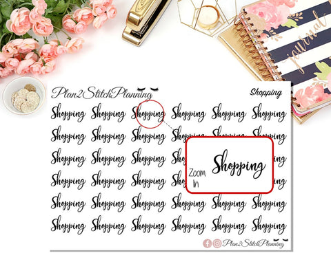 Shopping Script Planner Stickers