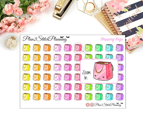 Shopping Bags Planner Stickers