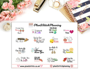 Love Messages Planner Stickers