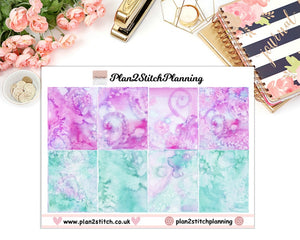 Enchanted Ice Full Box Erin Condren Planner Stickers