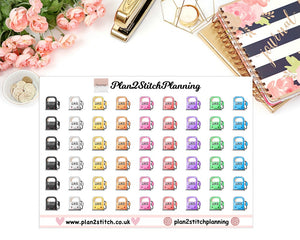 Kawaii Gas/Fuel Planner Stickers