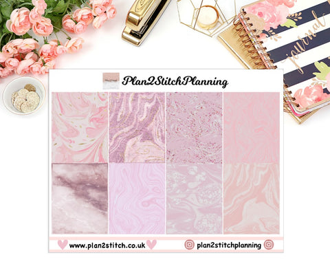 Paint/ Marble Effect Swirl Full Box Erin Condren Planner Stickers