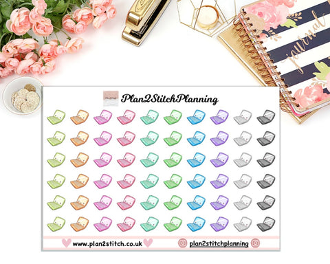 Kawaii Laptops Planner Stickers
