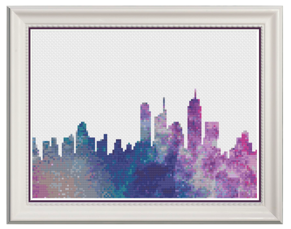 Galaxy Skyline Counted Cross Stitch Chart