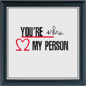 You're my Person Counted Cross Stitch Chart
