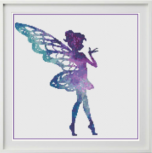 Galaxy Fairy Counted Cross Stitch Chart