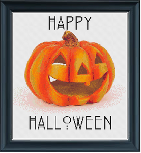 Happy Halloween Counted Cross Stitch Chart