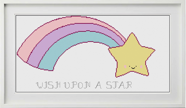 Wish Upon a Star Counted Cross Stitch Chart