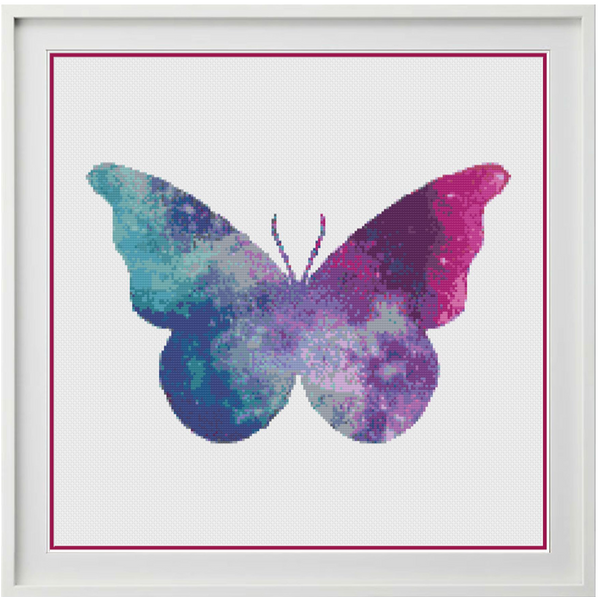 Galaxy Butterfly Counted Cross Stitch Chart