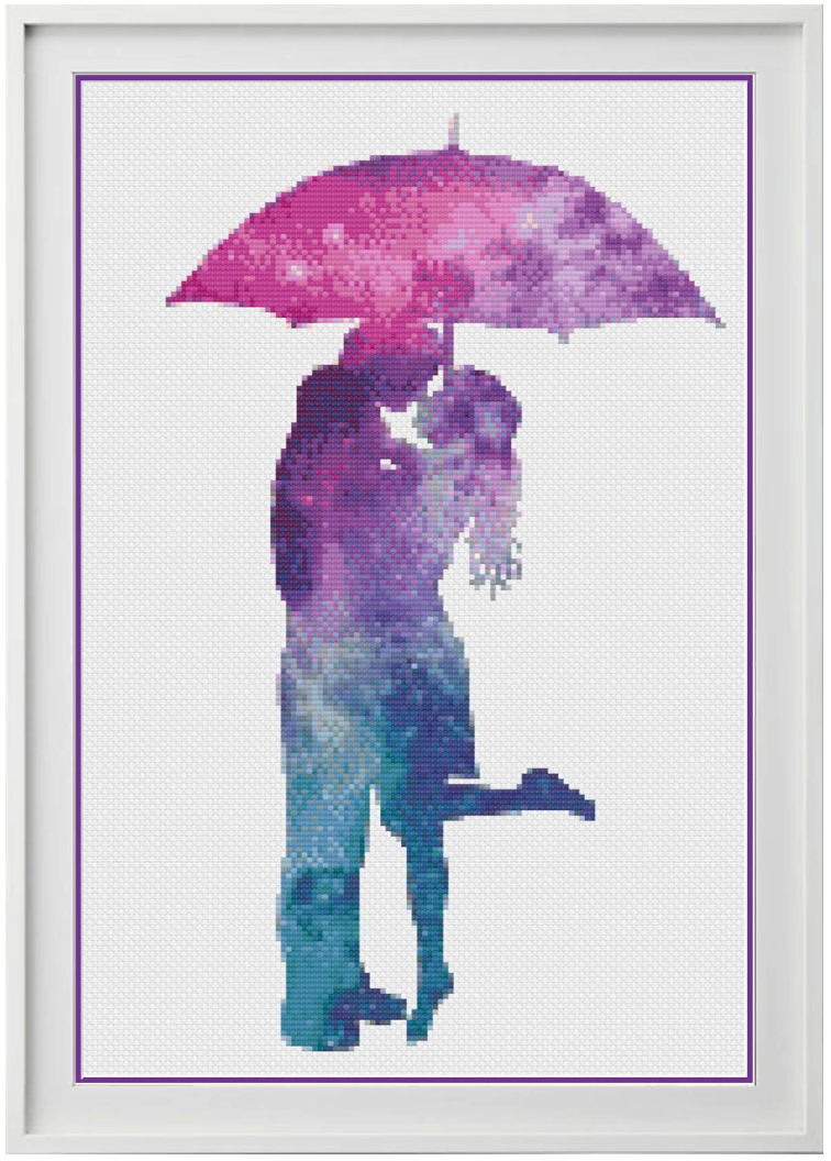 Galaxy Romance Counted Cross Stitch Chart