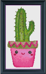Chloe the Cactus Counted Cross Stitch Chart