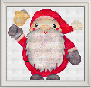 Santa Clause Counted Cross Stitch Chart