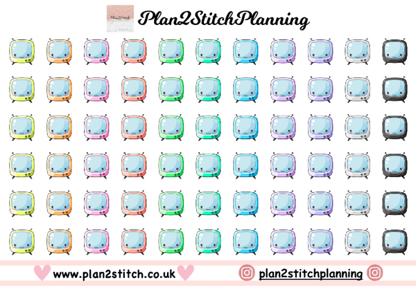Kawaii Tv's Planner Stickers
