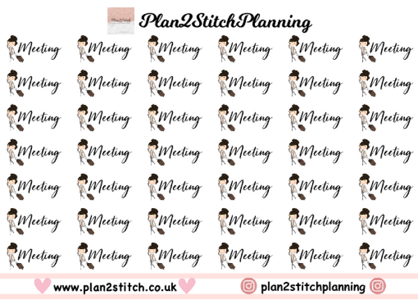 Meeting Planner Stickers