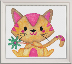 Sally the Cat Counted Cross Stitch Chart