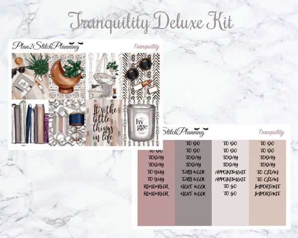 Tranquility Deluxe Weekly Sticker Kit