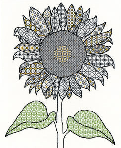 Blackwork Sunflower Bothy Threads Kit