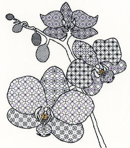 Blackwork Orchid Bothy Threads Kit