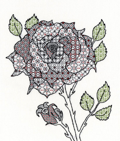 Blackwork Rose Bothy Threads Kit