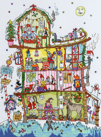 North Pole House Cut-Thru' Bothy Threads Kit