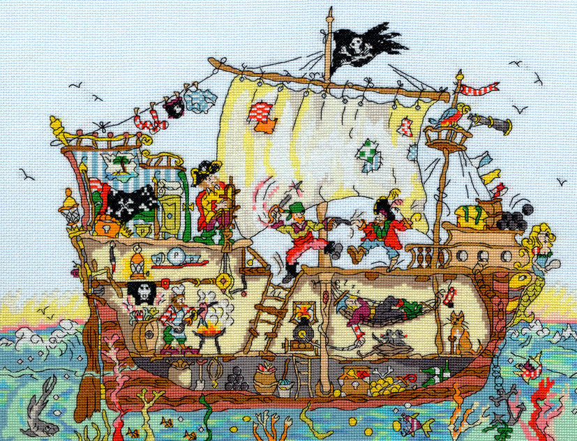 Pirate Ship Cut-Thru Bothy Threads Kit