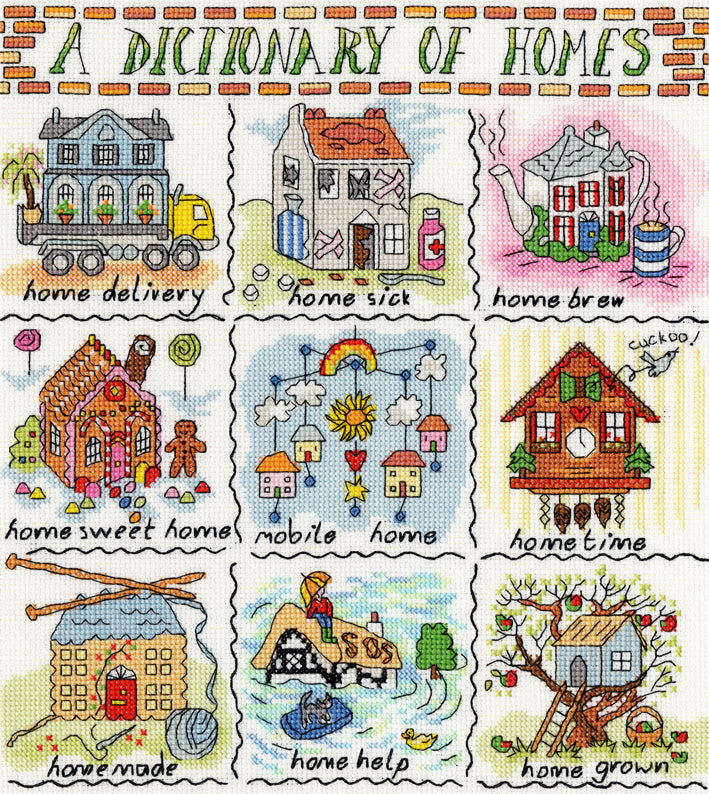 Dictionary of Homes Bothy Threads Cross Stitch Kit