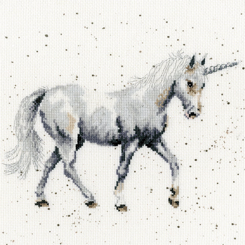 Believe In Magic Unicorn Cross Stitch Kit by Hannah Dale for Bothy Threads