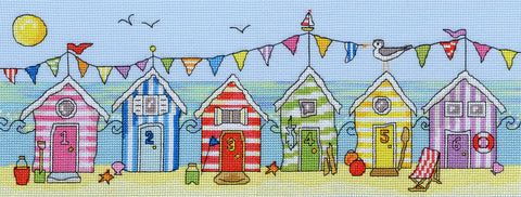 Beach Hut Fun Bothy Threads Kit