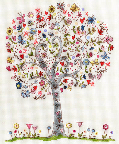 Love Tree Bothy Threads Kit