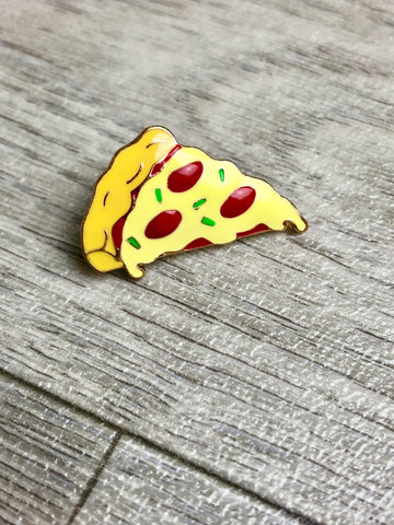 Pizza Gold Enamel Pin/Brooch