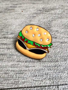 Hamburger Gold Enamel Pin/Brooch