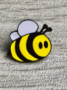 Bumble Bee Gunmetal Coloured Enamel Pin/Brooch