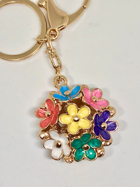 Colourful Flower Keyring